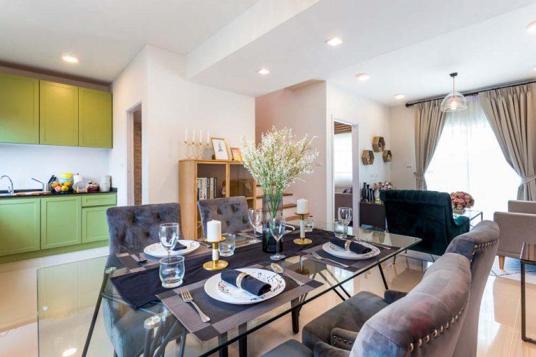 ห้องทานอาหารโครงการทาวน์โฮม Lio Bliss รัตนาธิเบศร์-บางใหญ่2